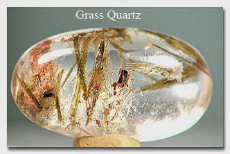 Grass Quartz Cabochon
