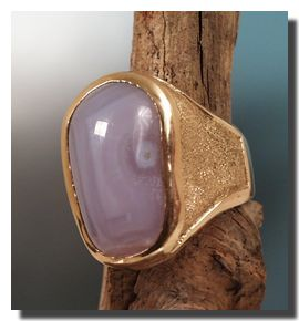 Holly Blue Agate ring