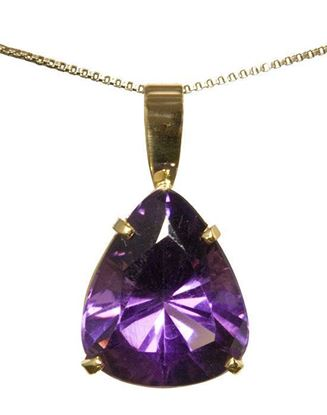 Handcrafted 14k Amethyst Pendant