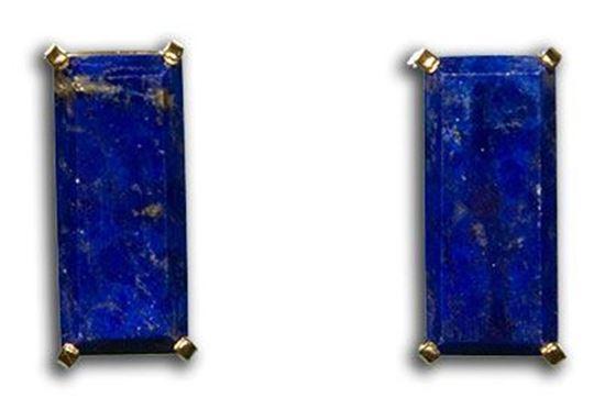 Gold Lapis Earrings