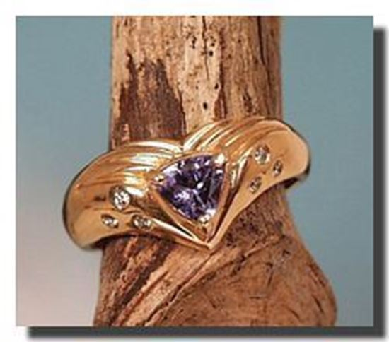 14k Tanzanite $ Diamond Ring