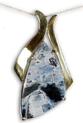 Gold Pietersite pendant