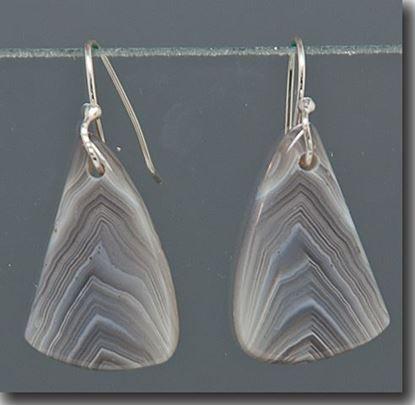 Botswana Agate Drop Earrings on sterling wires