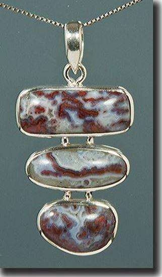 Paul Bunyan Plume Agate Pendant