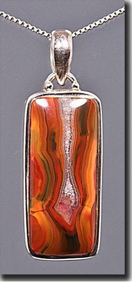 Condor Agate Silver Pendant