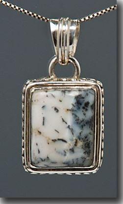 Denio Dendritic Agate Silver Pendant
