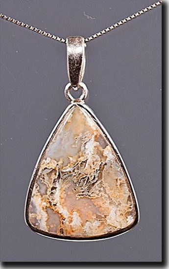 Graveyard Point Plume agate Silver Pendant