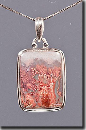 Prudent Man Plume Agate Silver Pendant