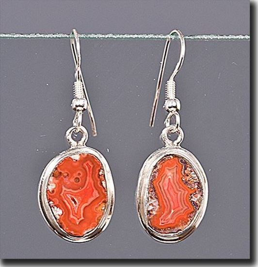 Dryhead Agate Silver Earrings
