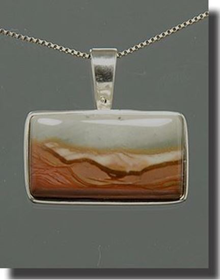 Royal Savannah Jasper Silver Pendant