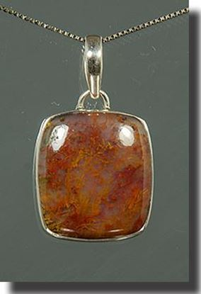 Horse Canyon Moss Agate Silver Pendant