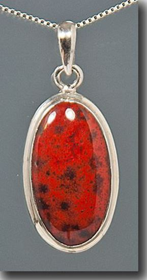 Cady Mountain Red Jaspagate Silver Pendant