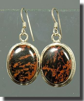 Mahogany Obsidian Earrings