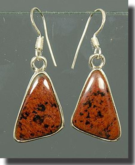 Mahogany Obsidian silver Earrings