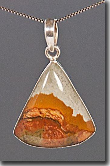 Rocky Butte Picture Jasper Silver Pendant
