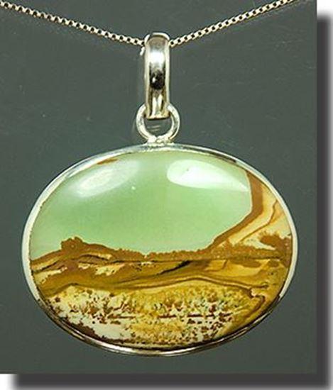 Owyhee LEDE Picture Jasper Silver Pendant