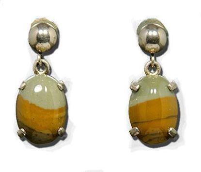 Owyhee LED Picture Jasper Silver Earrings