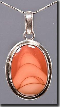 Idaho Bruneau Picture Jasper Silver Pendant