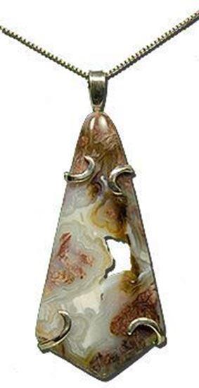 Wyoming Youngite Jasper silver pendant