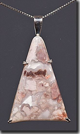 Wyoming Youngite Jasper Silver Pendant