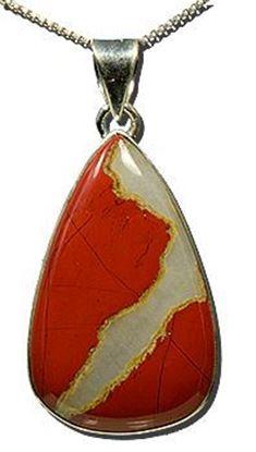 Red Jaspagate Silver Pendant