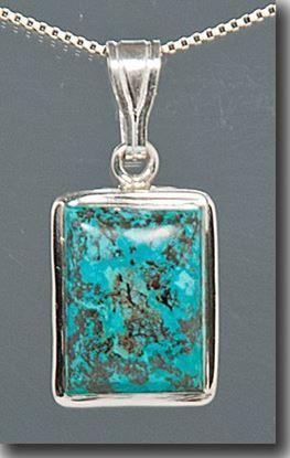 Chrysocolla Silver Pendant
