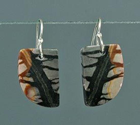 Utah Picasso Marble silver Earrings