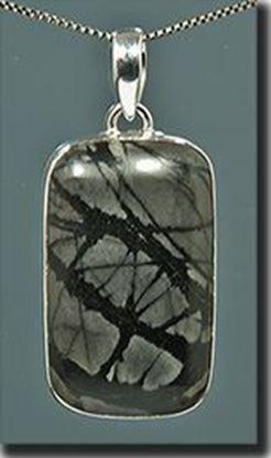 Utah Picasso Marble silver pendant