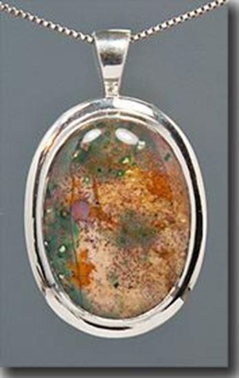 Bloodstone Silver Pendant