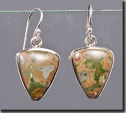Australian Rainforest Jasper Silver Earrings