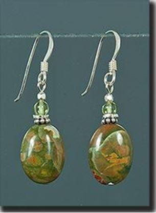 Australian Rainforest Jasper Silver Earrings