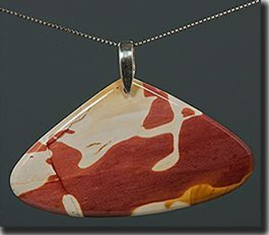 Australian Mookaite Jasper Silver Pendant