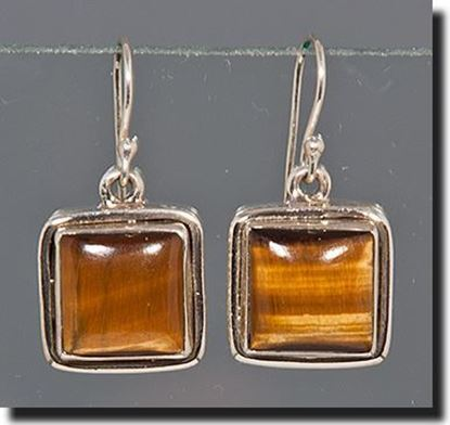 Tiger Eye Silver Earrings