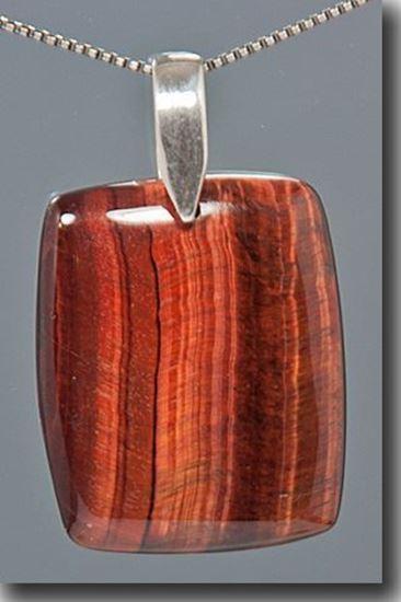 Red Tiger Eye Silver Pendant