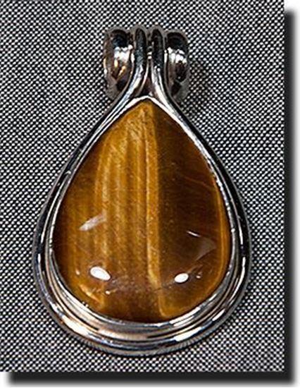 Tiger Eye Silver Pendant