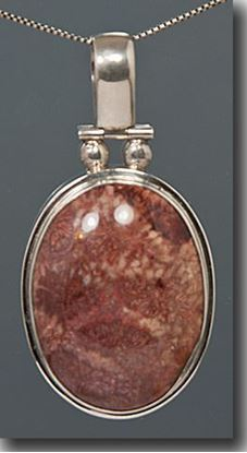 Indonesian Fossil Coral Silver Pendant