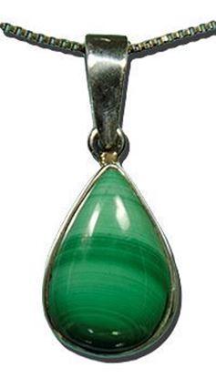 Malachite Silver Pendant