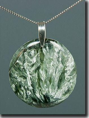 Seraphinite Silver Pendant