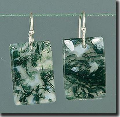 Green Moss Agate Earrings