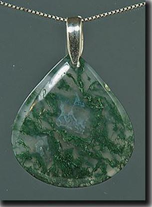 Green Moss Agate Pendant