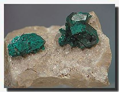 Dioptase mineral specimen