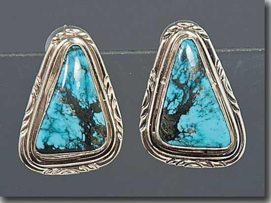 Nevada Blue Turquoise Earrings