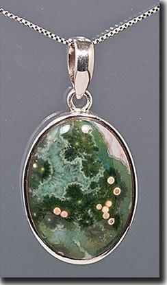 Silver Pendant set with the gemstone Madagascar Ocean Jasper