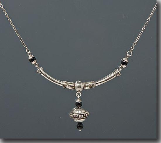 Black Onyx Sterling Necklace
