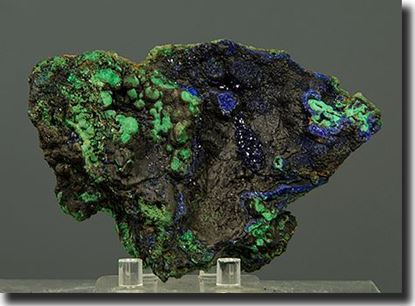 Rare Mineral Specimen Azurite, Malachite & Tenorite from China