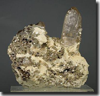 Citrine Smoky Quartz and Lepidolite