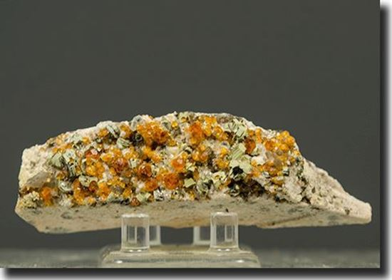 Spessartite Garnet on Feldspar from China