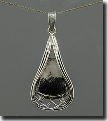 Montana Moss Agate Silver Pendant