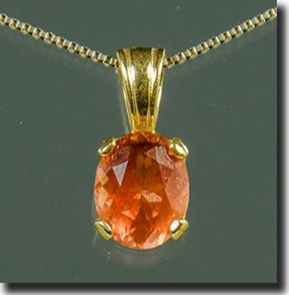 Oval Oregon Sunstone pendant