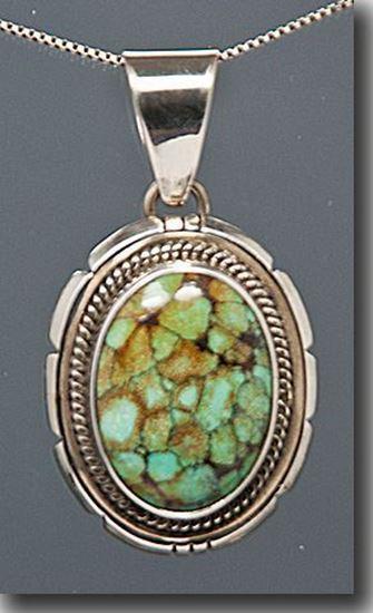 Variquoise Silver Pendant